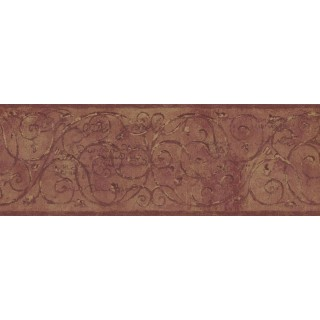 7 in x 15 ft Prepasted Wallpaper Borders - Vintage Wall Paper Border TT5201B
