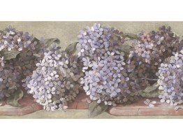 Prepasted Wallpaper Borders - Floral Wall Paper Border TT5223B