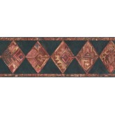 Prepasted Wallpaper Borders - Diamond Wall Paper Border UE935B