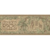 New  Arrivals Wall Borders: Leaves Wallpaper Border UE943B