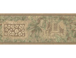 Prepasted Wallpaper Borders - Leaves Wall Paper Border UE943B