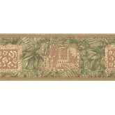 New  Arrivals Wall Borders: Leaves Wallpaper Border UE945B