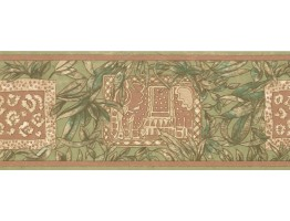 Prepasted Wallpaper Borders - Leaves Wall Paper Border UE945B