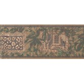 New  Arrivals Wall Borders: Leaves Wallpaper Border UE946B