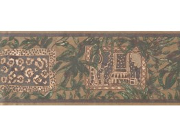 Prepasted Wallpaper Borders - Leaves Wall Paper Border UE946B