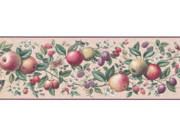 7 in x 15 ft Prepasted Wallpaper Borders - Fruits Wall Paper Border UL105043