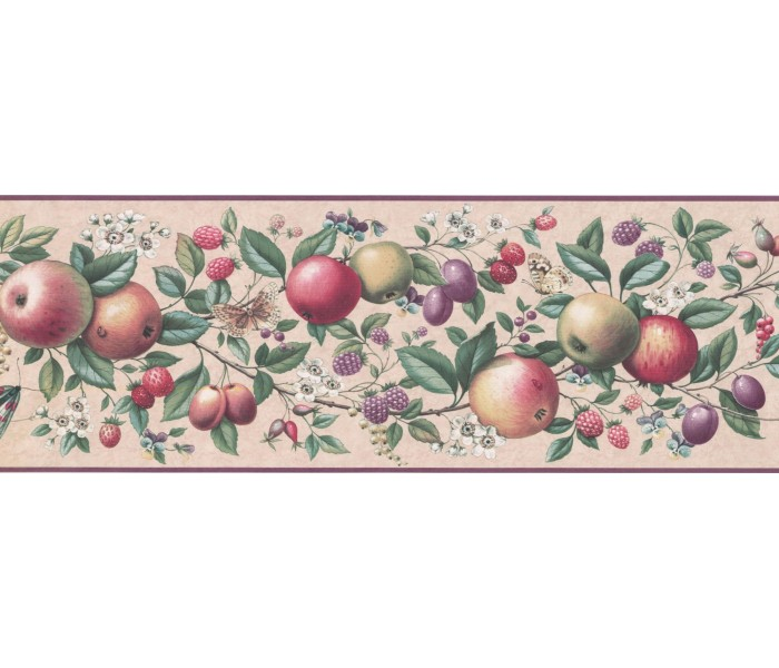 New  Arrivals Wall Borders: Fruits Wallpaper Border UL105043