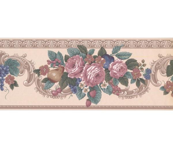 New  Arrivals Wall Borders: Floral Wallpaper Border VS100304