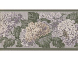 10 1/4 in x 15 ft Prepasted Wallpaper Borders - Floral Wall Paper Border VT4636B