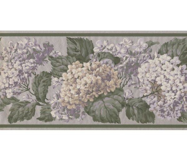 Prepasted Wallpaper Borders - Floral Wall Paper Border VT4636B