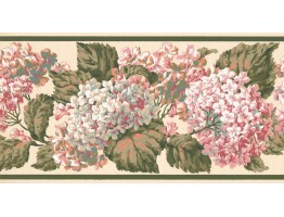 Prepasted Wallpaper Borders - Floral Wall Paper Border VT4638B