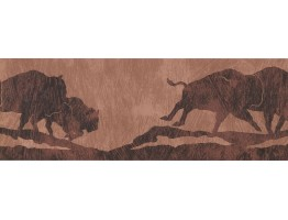 7 in x 15 ft Prepasted Wallpaper Borders - Animals Wall Paper Border WD4298B