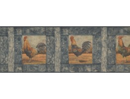 Prepasted Wallpaper Borders - Roosters Wall Paper Border WD76840