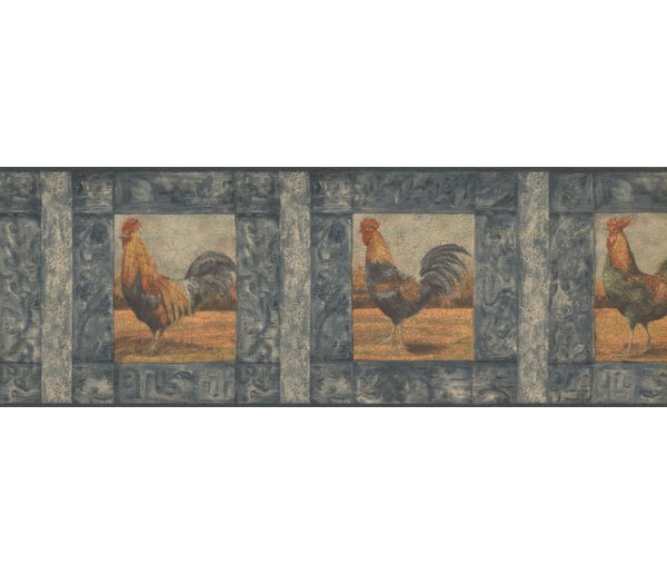 New  Arrivals Wall Borders: Roosters Wallpaper Border WD76840