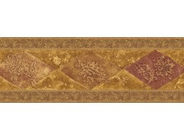 Prepasted Wallpaper Borders - Vintage Wall Paper Border WD76847