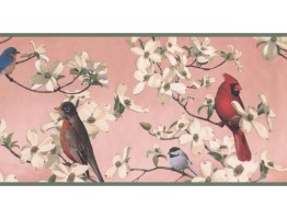 Prepasted Wallpaper Borders - Birds Wall Paper Border WE609B