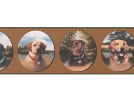 Prepasted Wallpaper Borders - Dogs Wall Paper Border WE630B