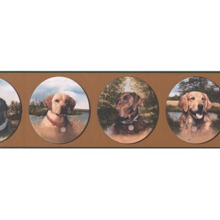 7 in x 15 ft Prepasted Wallpaper Borders - Dogs Wall Paper Border WE630B