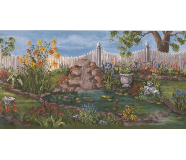 New  Arrivals Wall Borders: Garden Wallpaper Border WE672B