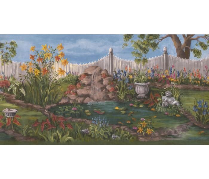 New  Arrivals Wall Borders: Garden Wallpaper Border WE672B