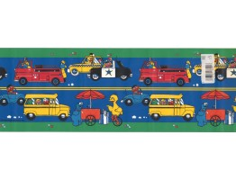 Prepasted Wallpaper Borders - Kids Wall Paper Border WFP6122