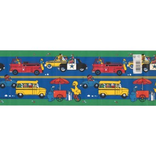 7 in x 15 ft Prepasted Wallpaper Borders - Kids Wall Paper Border WFP6122