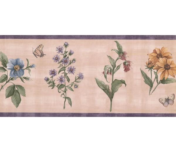 New  Arrivals Wall Borders: Floral Wallpaper Border WFP8036