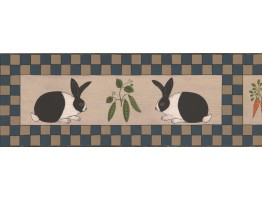 Prepasted Wallpaper Borders - Rabbit Wall Paper Border WK74787