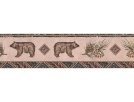 Prepasted Wallpaper Borders - Bear Animal Wall Paper Border WL5564B