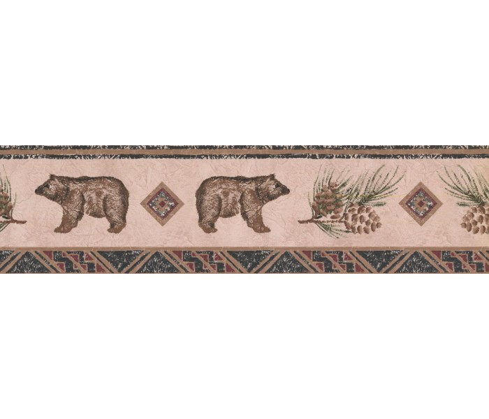 New  Arrivals Wall Borders: Bear Animal Wallpaper Border WL5564B