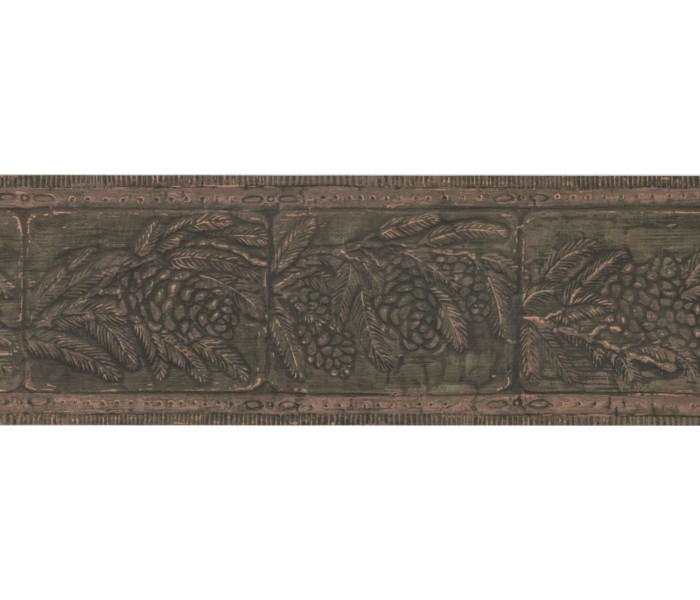New  Arrivals Wall Borders: Leaves Wallpaper Border WL5666B