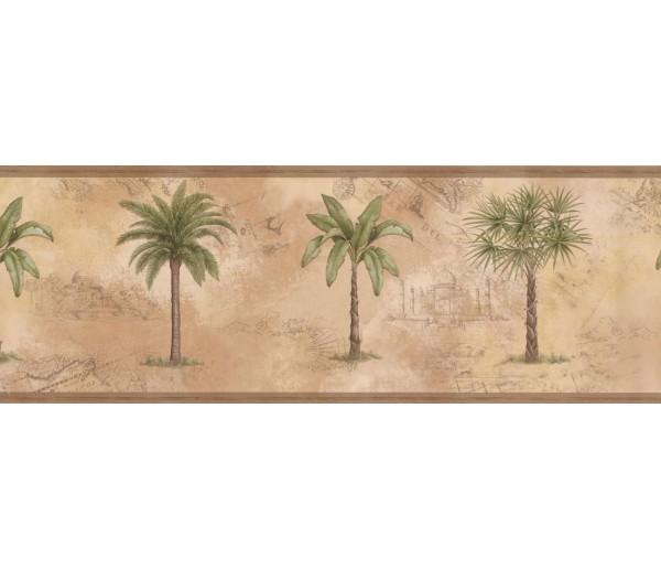 New  Arrivals Wall Borders: Palm Tree Wallpaper Border WP30521