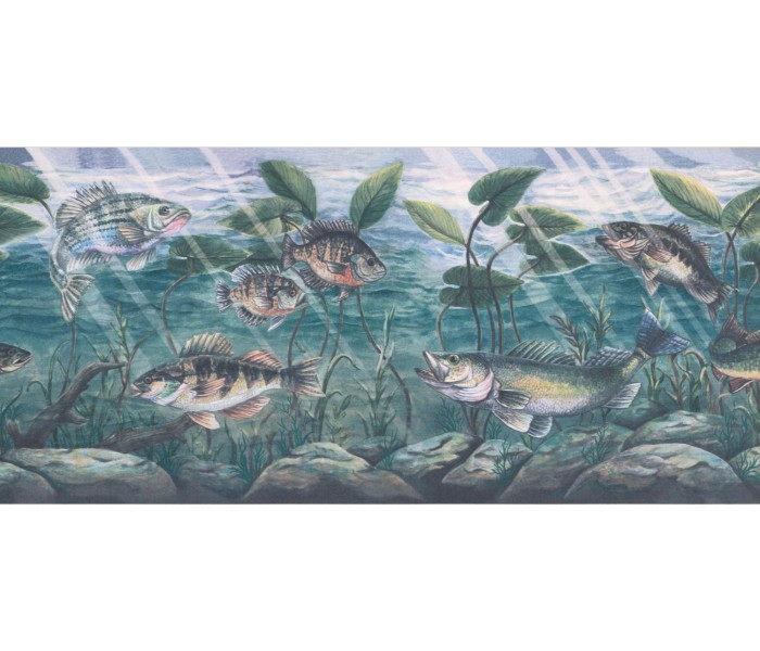 New  Arrivals Wall Borders: Fish Wallpaper Border WPN1081