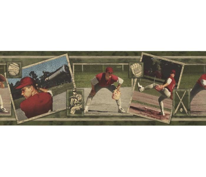 New  Arrivals Wall Borders: Baseball Wallpaper Border WS105