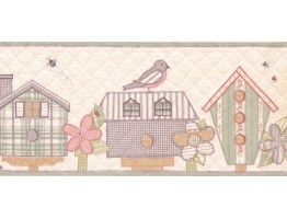 Prepasted Wallpaper Borders - Birds Cage Wall Paper Border WV7425B