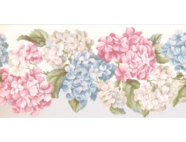Prepasted Wallpaper Borders - Floral Wall Paper Border WV7460B
