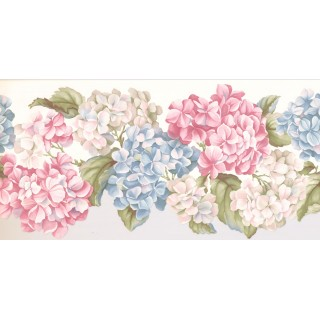 9 1/2 in x 15 ft Prepasted Wallpaper Borders - Floral Wall Paper Border WV7460B