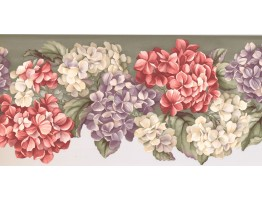 9 1/2 in x 15 ft Prepasted Wallpaper Borders - Floral Wall Paper Border WV7464B