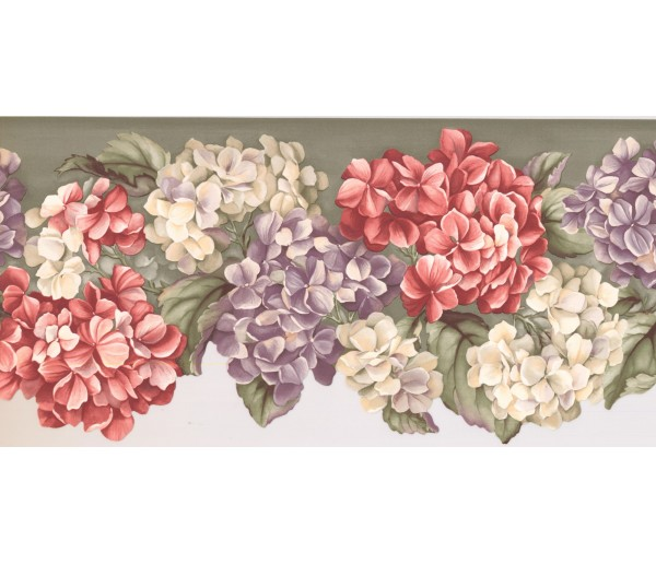 New  Arrivals Wall Borders: Floral Wallpaper Border WV7464B