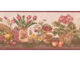 Prepasted Wallpaper Borders - Garden Wall Paper Border ZK60181B