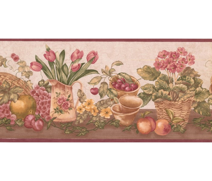 New  Arrivals Wall Borders: Garden Wallpaper Border ZK60181B