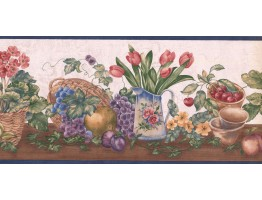 9 1/2 in x 15 ft Prepasted Wallpaper Borders - Garden Wall Paper Border ZK60182B