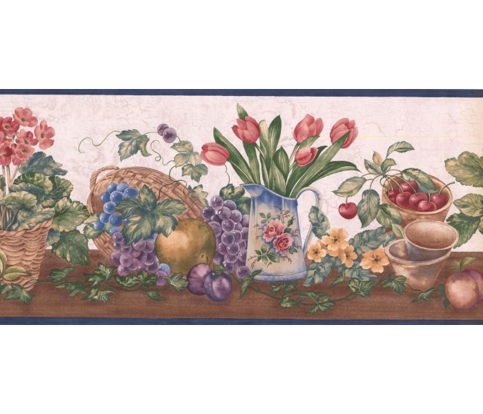 New  Arrivals Wall Borders: Garden Wallpaper Border ZK60182B