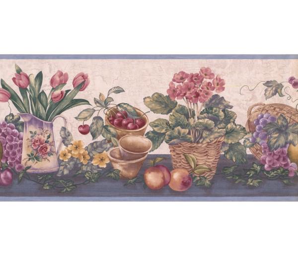 New  Arrivals Wall Borders: Garden Wallpaper Border ZK60184B