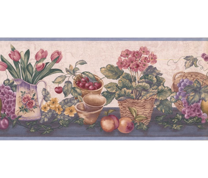 New  Arrivals Wall Borders: Garden Wallpaper Border ZK60184B