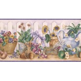 New  Arrivals Wall Borders: Garden Wallpaper Border ZK60191B