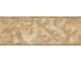 Prepasted Wallpaper Borders - Leaves Wall Paper Border ZN76162