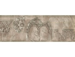 Prepasted Wallpaper Borders - Vintage Wall Paper Border ZN76181