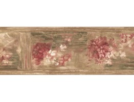 Prepasted Wallpaper Borders - Floral Wall Paper Border ZN76184