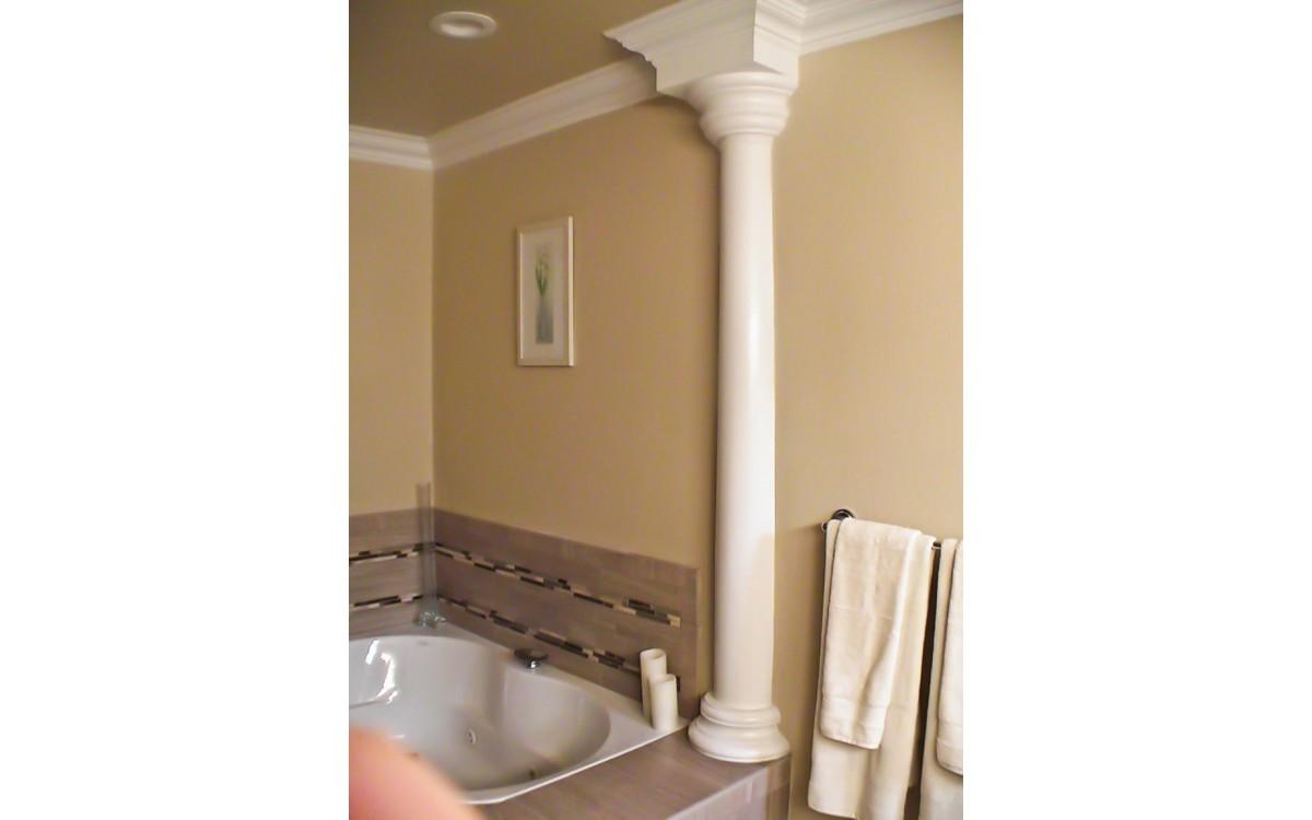 16 Simple Tricks to Modernize Interior Columns